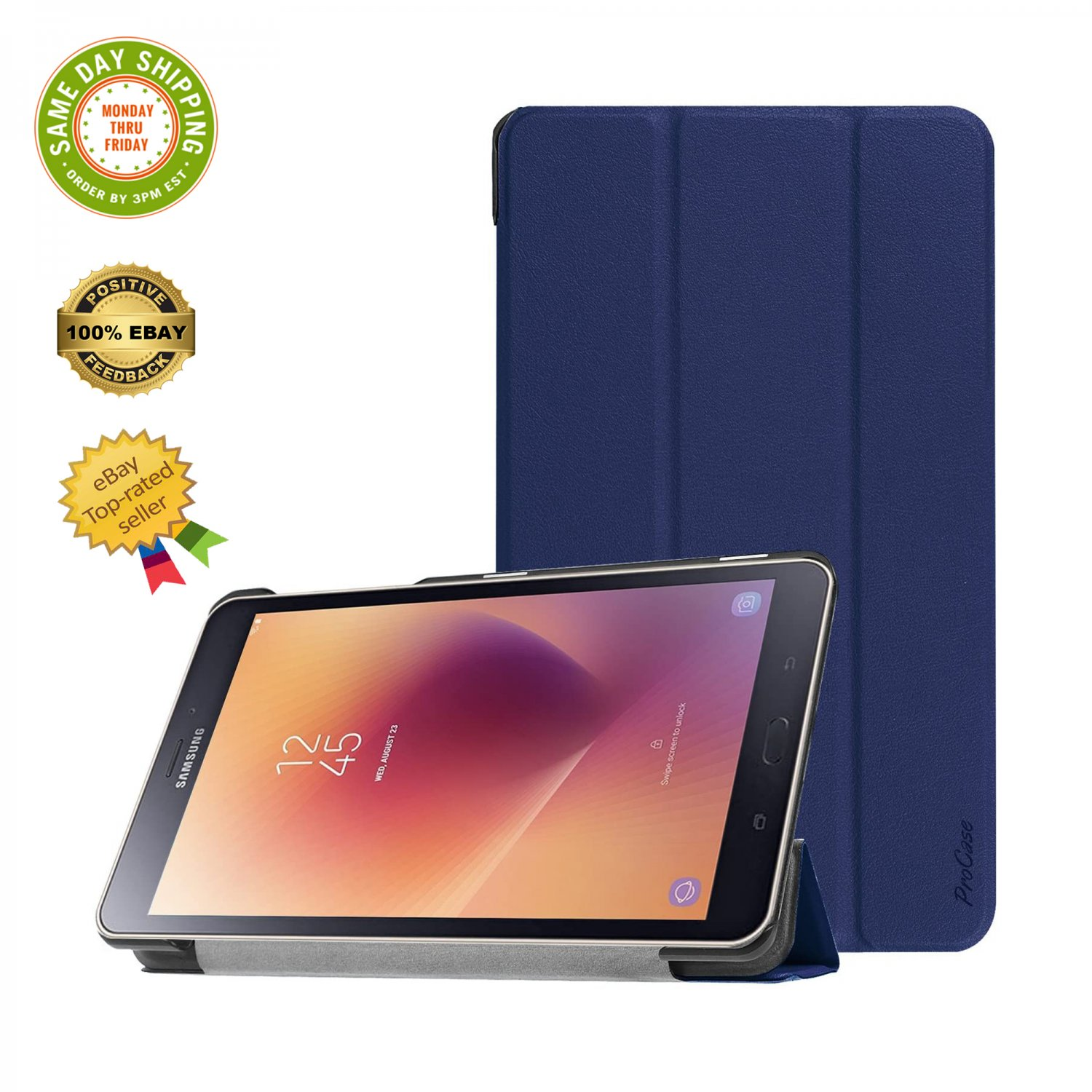 � ProCase Galaxy Tab A 8.0 T380/T385 Slim Light Smart Cover Stand Hard Shell Case �