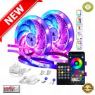 ★ 82Ft/25m LED Strip Color Changing RGB Lights Bluetooth APP Controlled Music Sync ★