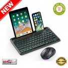★ Backlit Bluetooth Wireless RGB Keyboard and Mouse for Android Tablet/iPad - NEW ★