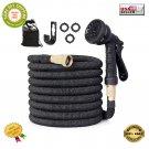 ★ 50 ft Garden Hose with 8 Function Nozzle Lightweight Expandable No-Kink Flex ★