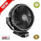 ★ 10000mAh 8 Inch Rechargeable Portable Clip on Fan with Clip Enhancer - NEW ★