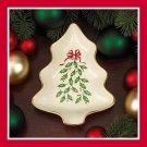 Lenox Porcelain Holiday Tree Dish New in Box NIB