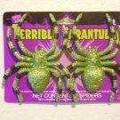 Terrible Tarantulas  Glitter 2 PIECES Halloween props