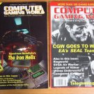 Lot of 2 Computer Gaming World, Vintage Magazines #104 #106 March May 1993