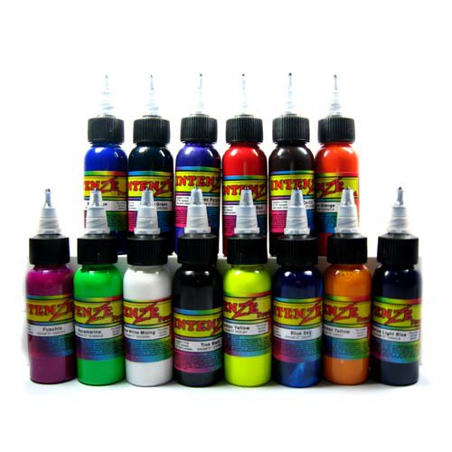 High Quality Intenze Ink (14 bottles)