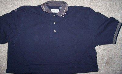 Mens Short Sleeve Polo GOLF Shirt Size Med Dark Blue