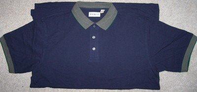 Mens Size Large Dark Blue Polo Style Golf Shirt
