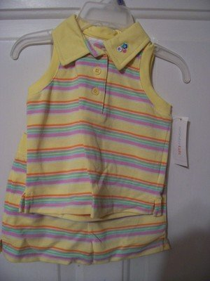 Girl's Yellow Summer Short Outfit Size 18 months