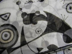 Abstract Design Scarf White and Black