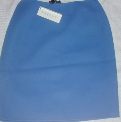 Clothes4: Career Blue Wool Skirt by Linda Allard Ellen Tracy Size 10. SAVE $100