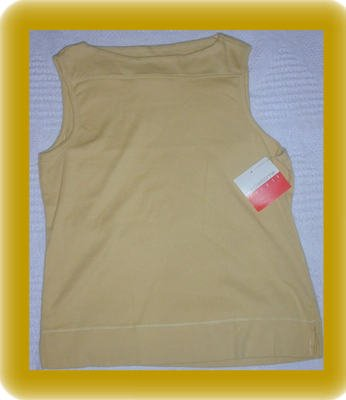 Fall Colored Sleevless Shirt Shell Liz Claiborne Size Medium