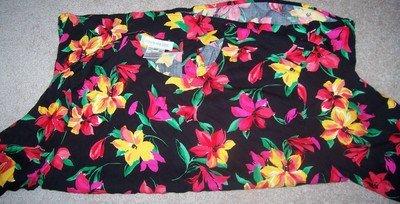 Fun LIKE NEW Jones New York Flowered Shirt Size 18W