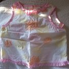 FREE SHIPPING!! Girls Gently used Tank top White with flowers and pink