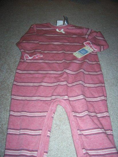 FREE SHIPPING! Baby Playwear Pink Stripe Size 12M