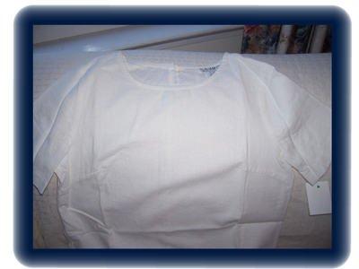 Women's Linnen White Shirt.  FREE SHIPPING!!