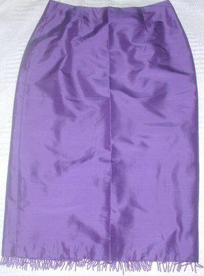FREE SHIPPING! Clio Petite SILK Skirt Purple Size 6