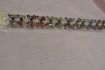 FREE SHIPPING Lot 12 Butterfly with Flower Clip Hair Claw