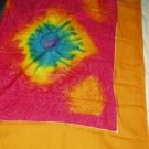 FREE SHIPPING Tye Dye Beach Sarong Pink and Yellow