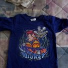 FREE SHIPPING DISNEY STORE Skateboarding Mickey Mouse Tshirt  Blue size XX small