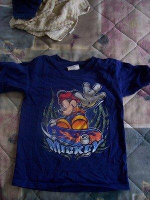 FREE SHIPPING DISNEY STORE Skateboarding Mickey Mouse Tshirt  Blue size XX small