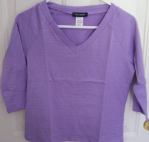 Easter Size X Large Purple 3/4 Sleeve Shirt