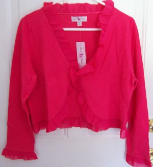 Easter Cherry Pink Women's Shrug Cardigan Sweater Size Large