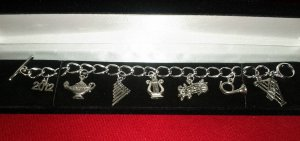 Deconstructed Crest Bracelet with Year Charm