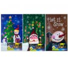 Christmas light up wall art 3 assorted