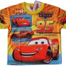 DISNEY CARS YELLOW T-SHIRT OFFICIAL Age 7-8