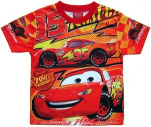 DISNEY PIXAR CARS RED T-SHIRT OFFICIAL ANY SIZE