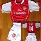 ARSENAL HOME KIDS SOCCER FOOTBALL SET CHILDREN S-XXL