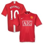 MAN UTD HOME  FOOTBALL SHIRT M FREE NAME&NUMBER