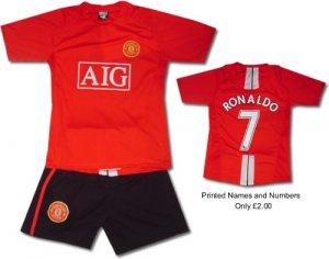 MAN UTD HOME KIDS Football kit Soccer shirt ChildrensS-XXL