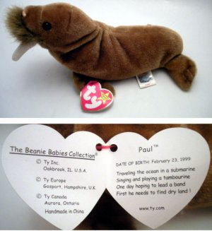 Ty Beanie Baby Paul the Walrus de638a1994a