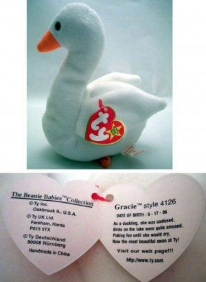 Ty Beanie Baby Gracie the Goose White