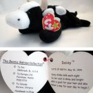Ty Beanie Baby Daisy the Cow Black & White