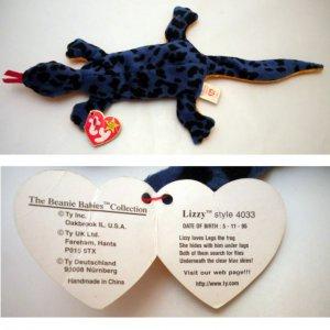 fb4747ece5e Ty Beanie Baby Lizzy the Lizard 4033