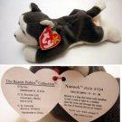 Ty Beanie Baby Nanook the Dog Husky 4104