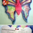 Ty Beanie Baby Fliiter the Butterfly