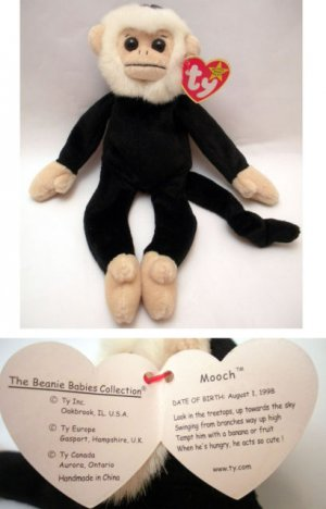 5bca01ca0da Ty Beanie Baby Mooch the Spider Monkey