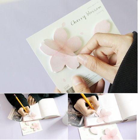 Sakura Flower Paper Memo Sticker Note Pad Stationery