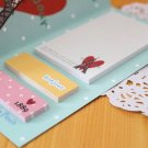 Paris Style Removable Post-it Bookmark Sticker Note Notepad Memo Stationary set ST0015