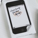 Office Note Paper Pad Shaped Notepad Memo iPhone 4 4G 4S Bookmark Stationery NEW ST0010