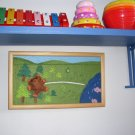 Akotales story telling picture, toy and picture, Handmade original wall decor picture -