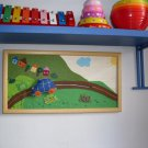 Akotales story telling picture, children toy, educational toy, Handmade original wall decor picture