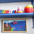 Akotales picture, Handmade original wall decor, story telling picture, children toy, educational toy