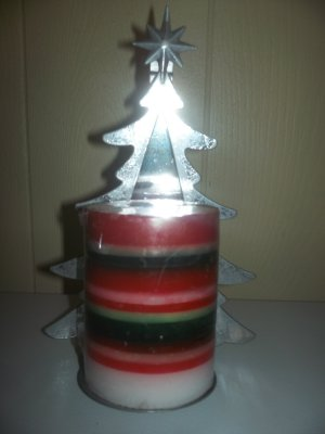 Christmas Tree Candle Holder w/ Candle