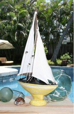 Yellow Coastal Sailboat16    Sku: ORT1700638Y