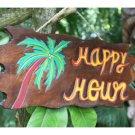 """Happy Hour"" Driftwood Sign   Sku: DPT5274"
