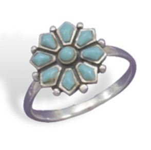 Turquoise Flower Ring   82668